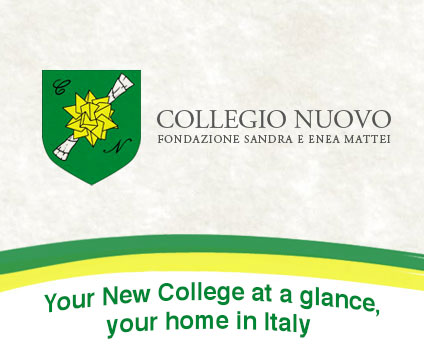 Your New College at a glance, your home in Italy